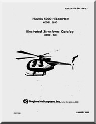 Hughes Mc Donnell Douglas  Helicopters  369 D  Illustrated Structures Catalog  Manual