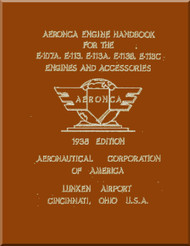 Aeronca   Aircraft Engine  E-107A , E-113, E-113A , E-113B, C Handbook Manual  ( English Language )