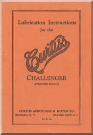 Curtiss R-600 Challenger   Aircraft Engine Lubrification Manual  ( English Language )
