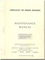 Bristol Hercules 730  Aircraft Engine Maintenance Manual  ( English Language )