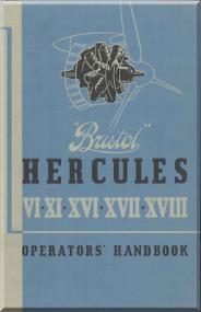 Bristol Hercules  Aircraft Engine Operator Handbook Manual  ( English Language )
