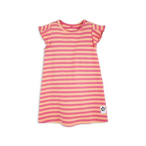 Stripe Rib Wing Dress Pink