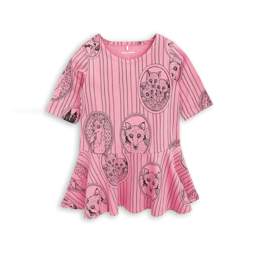 Fox Family Dress Pink