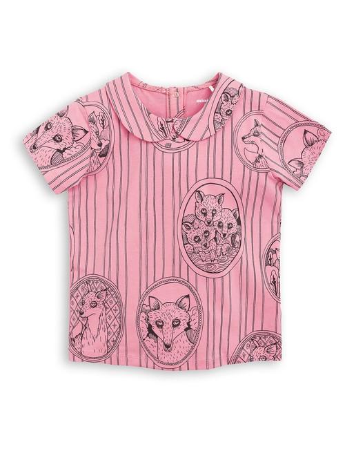 Fox Family Collar Tee Pink