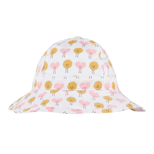 Sun and Hearts Infant Hat
