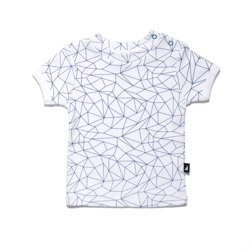 Fractured White Tee
