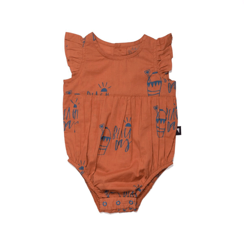 Beach Days Woven Bubble Suit (Rust)