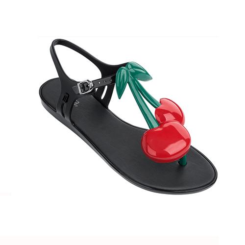 Melissa Sola Cherry Black Gloss Shoes