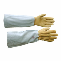 Protector Basics Goatskin Gauntlet Rose Gloves