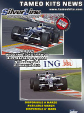 1:43 Kit.  Silverline Williams Toyota FW30 Australian GP 2008 Rosberg Nakajima