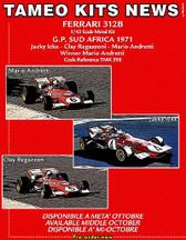 1:43 Kit.  Ferrari 312B South Africa GP 1971 Winner Andretti