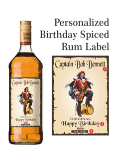 Personalized Captain Morgan Rum Labels