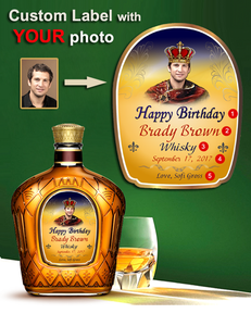 Personalized Whisky  Labels with Photo Style 4