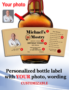 Personalized Whisky  Labels with Photo Style 9