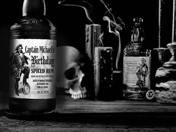 Personalized Captain Morgan Black Spiced Rum Labels