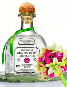 Personalized Tequila Clear Labels (Patron Style)