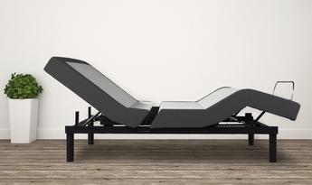 Contour Pure Silver Adjustable Bed