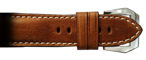 RIOS1931 26x22 XL Classic Distressed Brown Genuine Vintage Leather Watch Strap for Panerai Radiomir Watches | Paneraibands.com