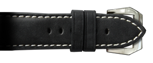 RIOS1931 26x22 Black Genuine Vintage Leather Watch Strap for Panerai Radiomir Watches | Paneraibands.com