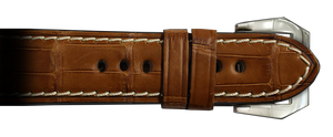 Genuine Alligator RIOS1931 24x22 Cognac Modena to fit Panerai Watches | Paneraibands.com