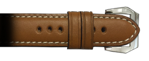 RIOS1931 Cognac Firenze Genuine Leather Watch Strap for Panerai