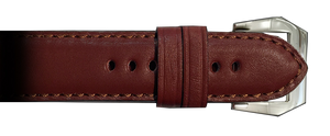 RIOS1931 22x22 Mahogany Milano Genuine Leather Watch Strap for Panerai Watches | Paneraibands.com