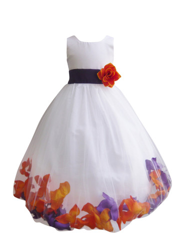 Rose petal dress combination orange and purple custom colors mightylinksfo