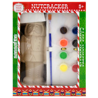 Sassafras Paint  Your Own Nut Cracker Kids Activity Craft Kit with Paints and Ceramic Figure