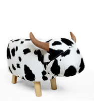 Large Cow Animal Stool