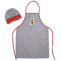 Slightly Seconds Kitchen Conductor Apron and Hat Set