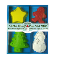 4 Silicone Holiday Mini Cake Molds