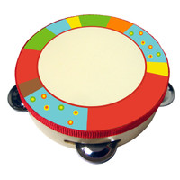 Bright Stripe Tambourine