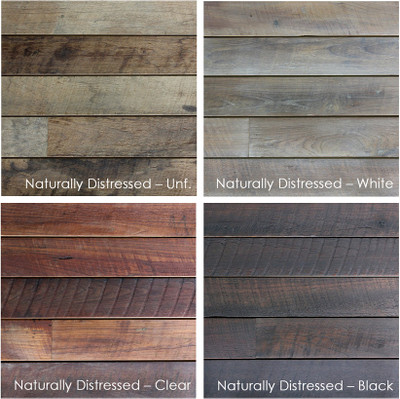 Reclaimed Naturally Distressed Long Plank Teak Paneling