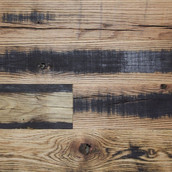Reclaimed Dark Horse Flooring & Paneling - Skip Planed with Clear Oil