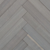 MC Walnut Engineered Herringbone Flooring & Paneling - Oyster Wash - (Sample)