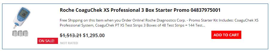 Roche CoaguChek 3 Box Promo