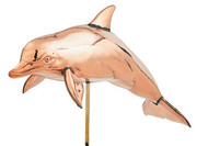 Weathervane - Polished - 3-D Dolphin