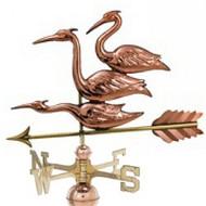 Weathervane - Polished - Three Herons