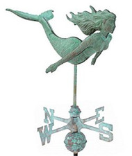 Weathervane - 3-D Mermaid