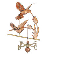 Weathervane - 3-D Hummingbird  Polished