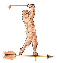 Weathervane - Polished - Traditional Golfer