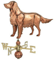 Weathervane - Polished - 3-D Hunting Dog