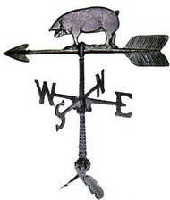 Weathervane: 24in. Pig With Mount