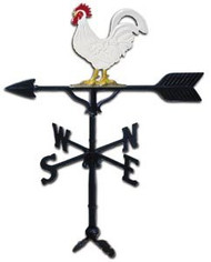 Rooster Weathervane - 32in. With Mount