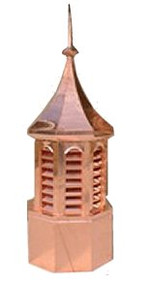 Custom Copper Cupola - Octagon Curve Top 30 in.x80