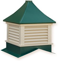 Cupola - Sundance: Azek - Franklin - Louvered - 72 in.Sq. x 103 in. High