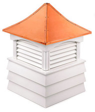 Good Directions Vinyl Sherwood Shiplap Base Cupola - 72in. square x 107in. high