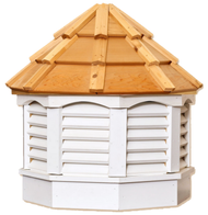 Gazebo cupola - VINYL - cedar top 18in.