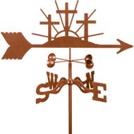 Crosses of Faith Weathervane With Mount
