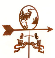 Bird-Heron Weathervane with mount